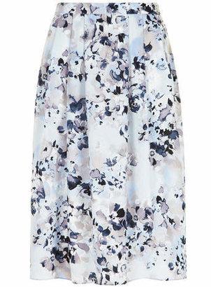 Dorothy Perkins Blue Floral Midi Skirt