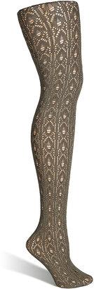 Fogal Tropic Sage Crochet Pattern Velvet Tights