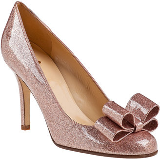 Kate Spade Krystal Evening Pump Rose Gold Glitter