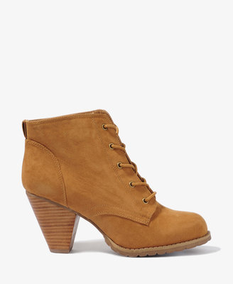 Forever 21 Lace-Up Booties