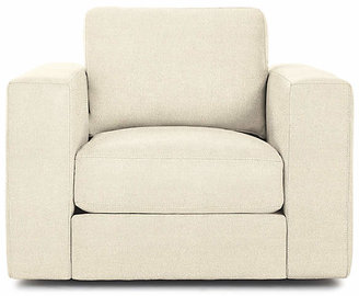 Design Within Reach Reid Swivel Armchair, Offwhite Fabric
