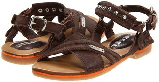 Diesel 'Flash' Juggler (Toddler/Little Kid) (Dark Brown) - Footwear