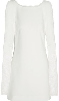 Rime Arodaky - Miss Jagger Lace-paneled Crepe Mini Dress - Ivory $880 thestylecure.com