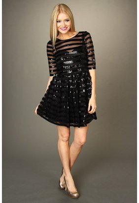 Max & Cleo Whitney Sequin Party Dress (Black) - Apparel