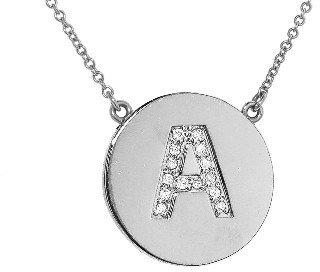 Jennifer Meyer Diamond Letter Necklace - A - White Gold