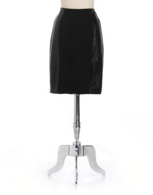 MICHAEL Michael Kors Faux-Leather Paneled Pencil Skirt