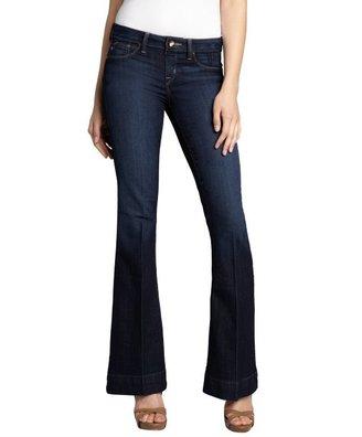Sold Denim indigo cotton blend 'Houston High Heel' bootcut jeans