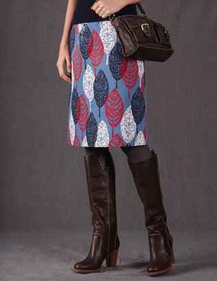 Boden Printed A-Line Skirt