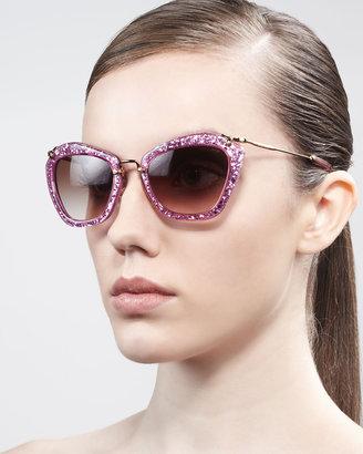 Miu Miu Extreme Catwalk Sunglasses, Bronze