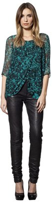 House Of Harlow Chiffon Top with Underlayer