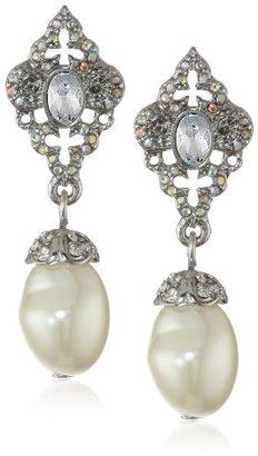"""Betsey Johnson Stone & Pearl"""" Faux Pearl Drop Earrings"""