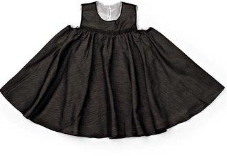 Lotus Springs Eco Baby Mocha/Silk Round Dress