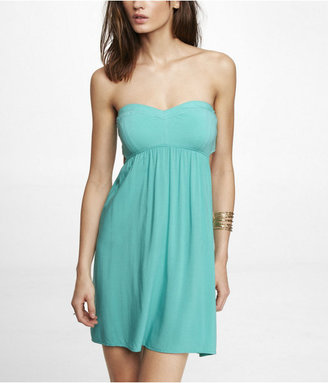 Babydoll Strapless Cut-Out Dress