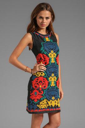 Shoshanna Black Terrades Embroidery Nadera Dress
