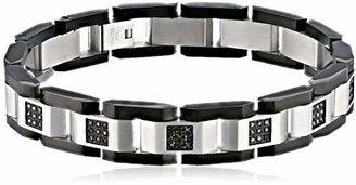 Black Diamond Cold Steel Men's Stainless Steel Black Immersion-Plate Bracelet