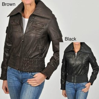 Knoles & Carter Women's Short Smocked Perforated Jacket $79.99 thestylecure.com