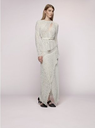 Proenza Schouler Lace Pieced Gown