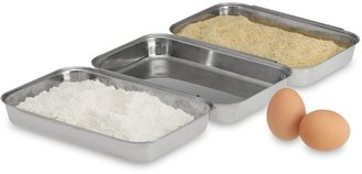 Williams-Sonoma Stainless-Steel Breading Pan, Set of 3