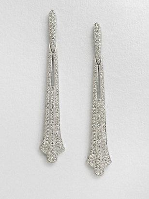 Adriana Orsini Crystal Accented Linear Earrings