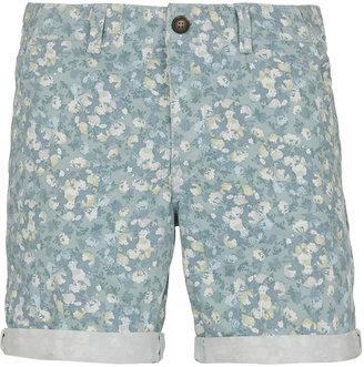 Topman Green Floral Pattern Shorts