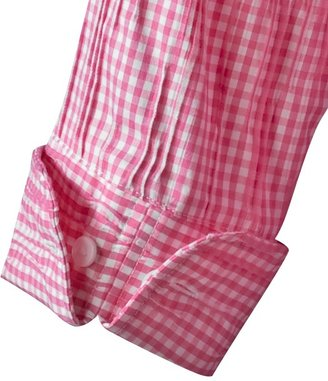 Coldwater Creek Gingham crinkle shirt