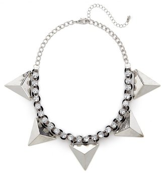 BaubleBar Silver Equilateral Collar