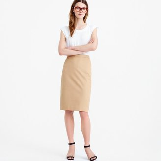 J.Crew Tall pencil skirt in stretch cotton