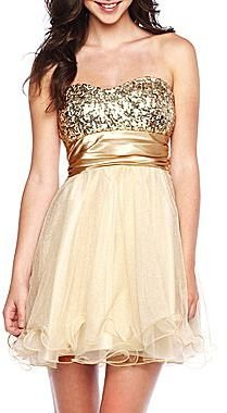 Speechless Glitter Monster Tube Dress