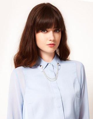 Asos Stud Collar Brooch with Chain
