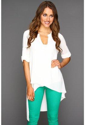 BCBGMAXAZRIA Mazie Tunic Top (White) - Apparel