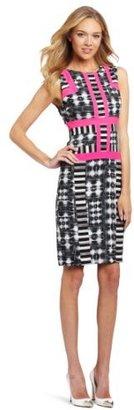 BCBGMAXAZRIA Women's Elouise Print Block Sheath Dress