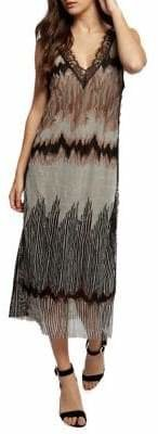 Dex Printed Lace-Trim Shift Dress