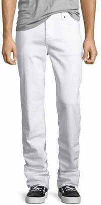 7 For All Mankind Standard Clean White Jeans, White $189 thestylecure.com
