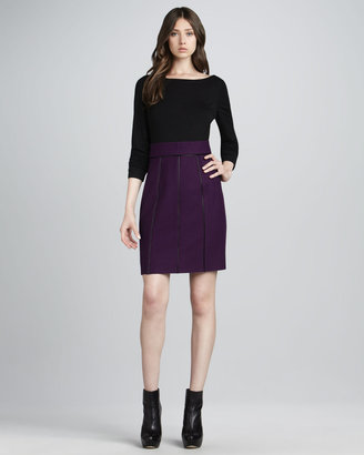 Phoebe Couture Two-Tone Combo Dress