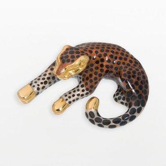 New york gold designs 14k gold leopard pendant