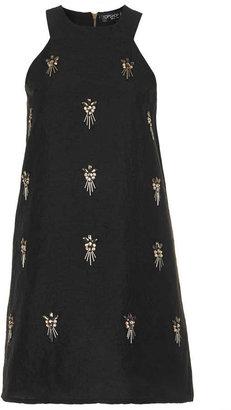 Topshop Petite embelished a-line dress
