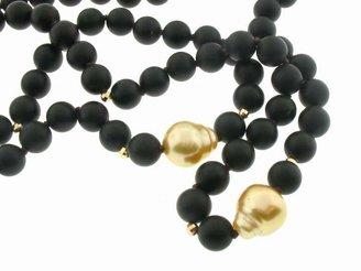 Mizuki Black Onyx Chain with South Sea Pearls