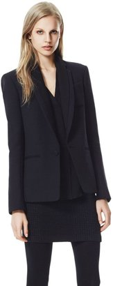 Theory Donelly Blazer in Edgewood Wool Blend