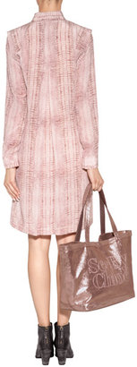 See by Chloe Leather Tote in Pink Champagne