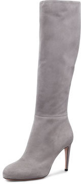 Gucci Suede To-The-Knee Boot, Gray