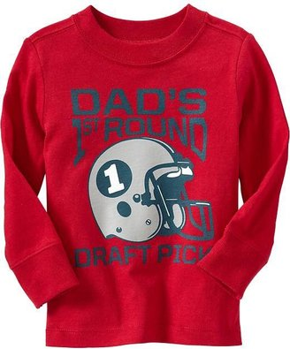 """Old Navy """"Dad's 1st Round Draft Pick"""" Tees for Baby"""