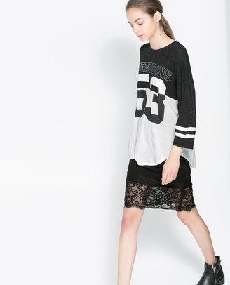 Zara Lace Sheath Skirt