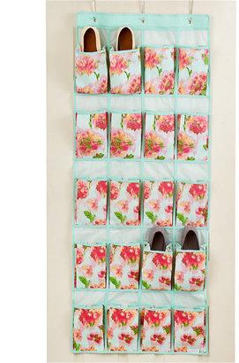 Isaac Mizrahi Ikat Floral 20 Pocket Over the Door Shoe Organizer