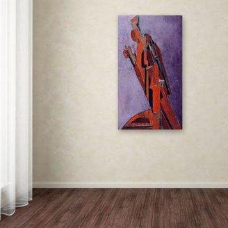 STUDY Trademark Fine Art 32 in. x 18 in. Figure Canvas Art