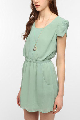 Urban Outfitters Pins and Needles Chiffon Slit-Back Dress