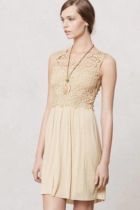 Anthropologie Honeyed Lattice Dress