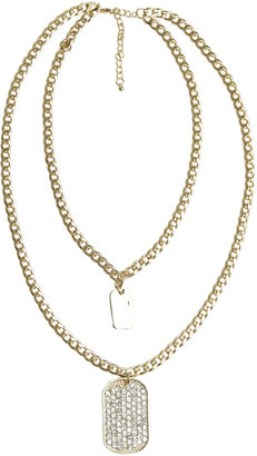 Arden B High-Low Dog Tag Necklace