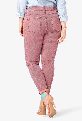 Forever 21 FOREVER 21+ striped skinny jeans