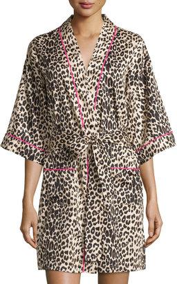 BedHead Leopard-Print Short Robe