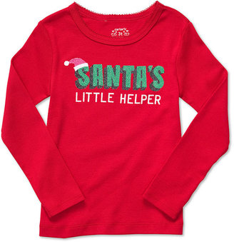 Carter's Kids T-Shirt, Little Girls Long-Sleeve Holiday Tees